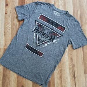Hurley Men's Gray Graphic Logo Tee Size Medium